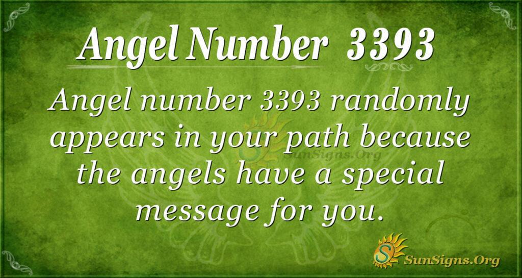 3393 angel number