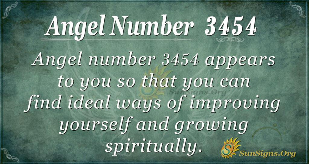 Angel number 3454