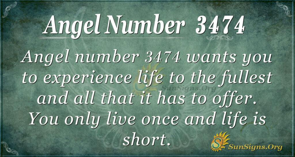 Angel number 3474
