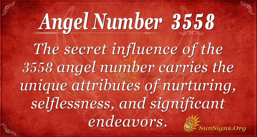Angel Number 3558