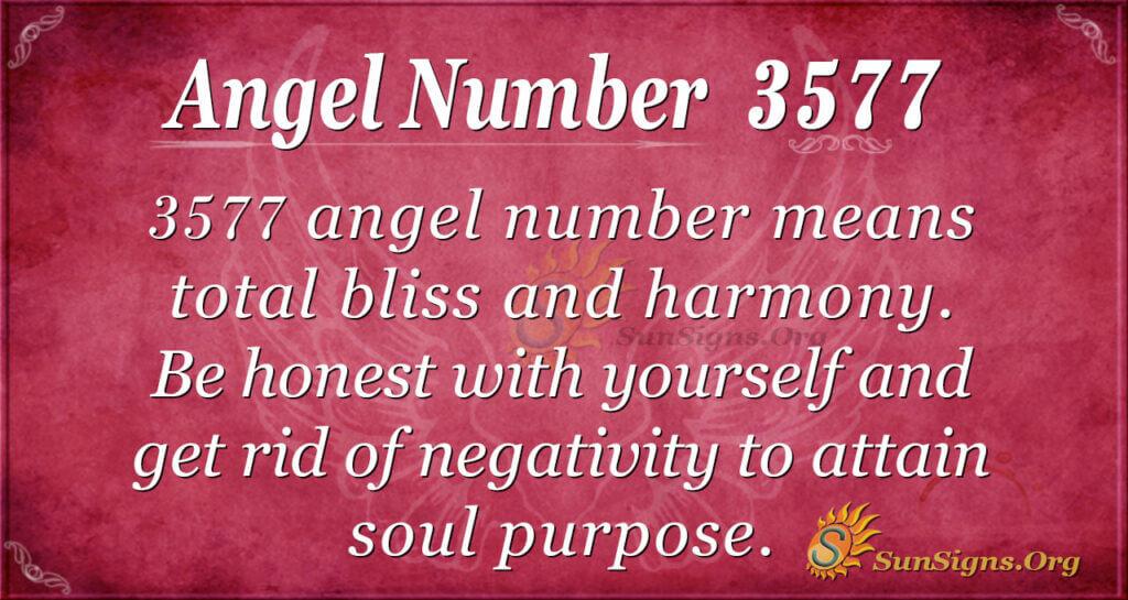 Angel Number 3577