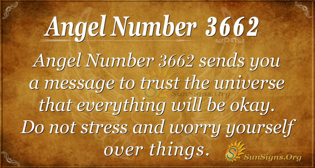 Angel number 3662