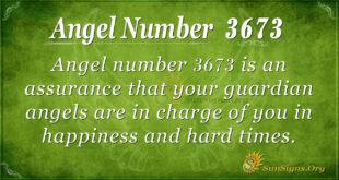 Angel Number 3673