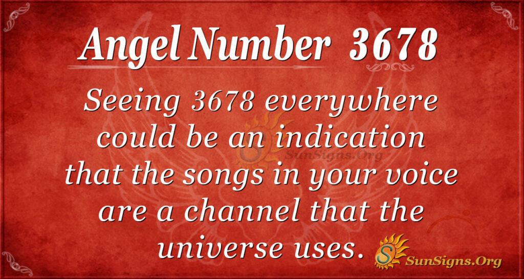 3678 angel number
