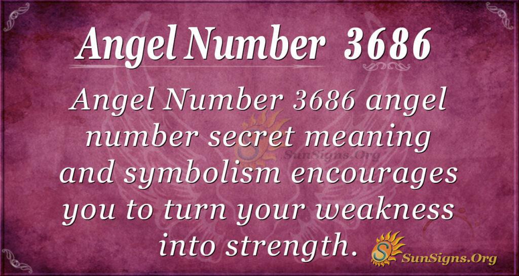 Angel Number 3686