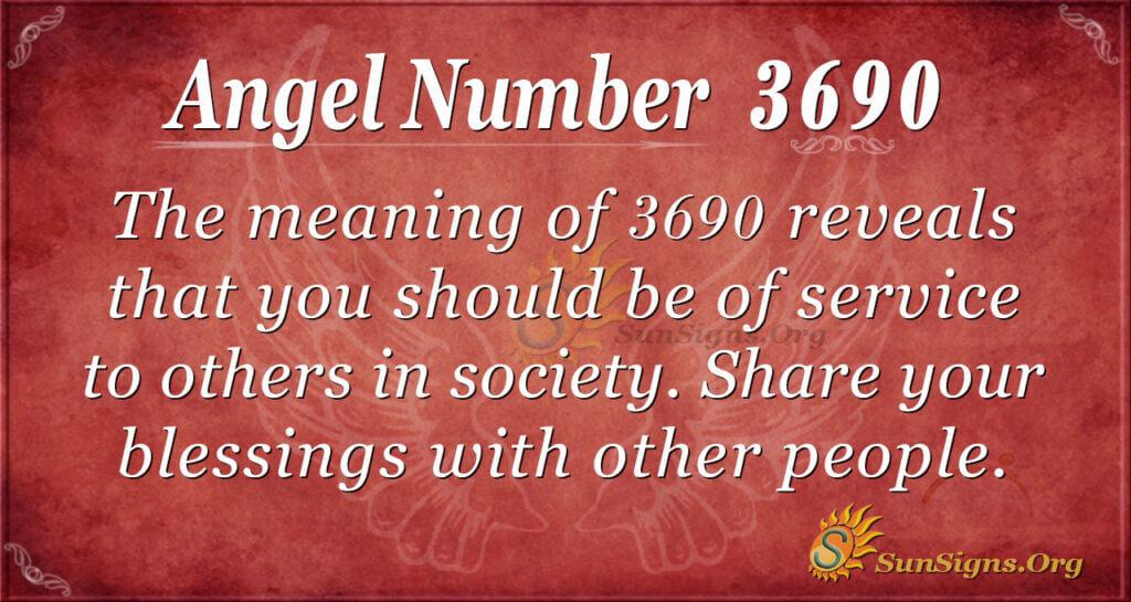 Angel Number 3690