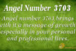 Angel number 3703
