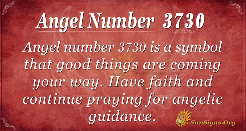 Angel number 3730