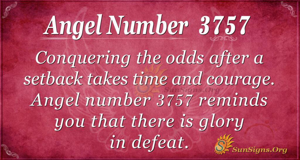 Angel number 3757