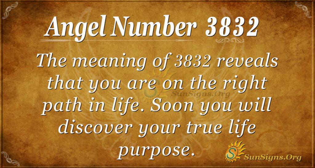 3832 angel number