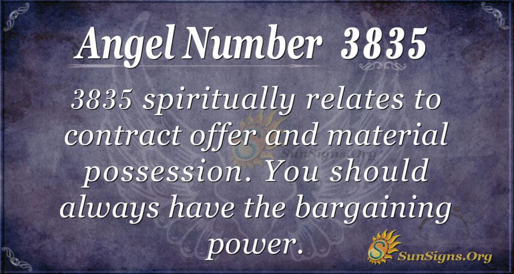 Angel number 3835