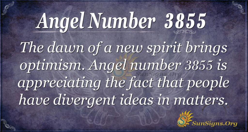 Angel Number 3855