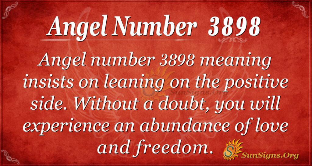 Angel number 3898