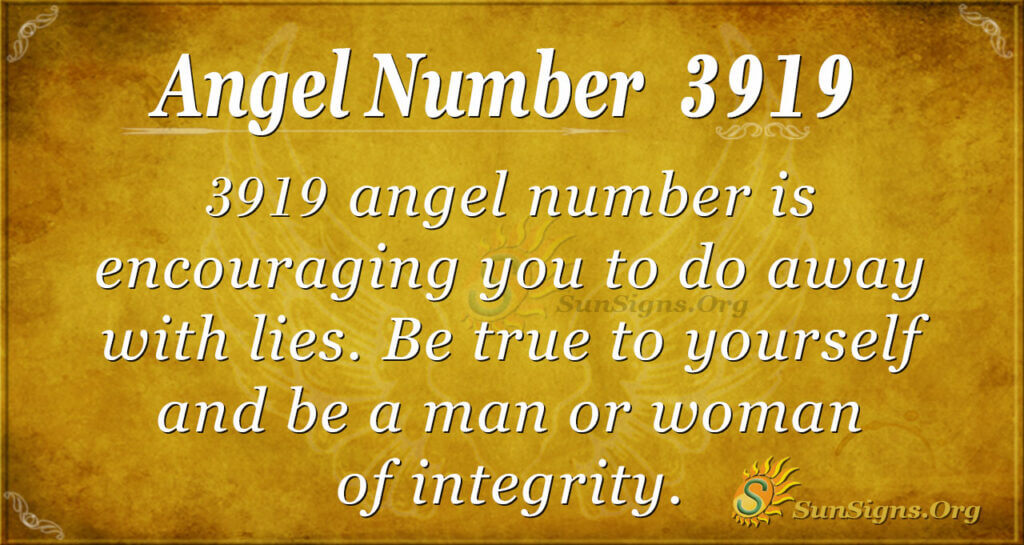 Angel number 3919