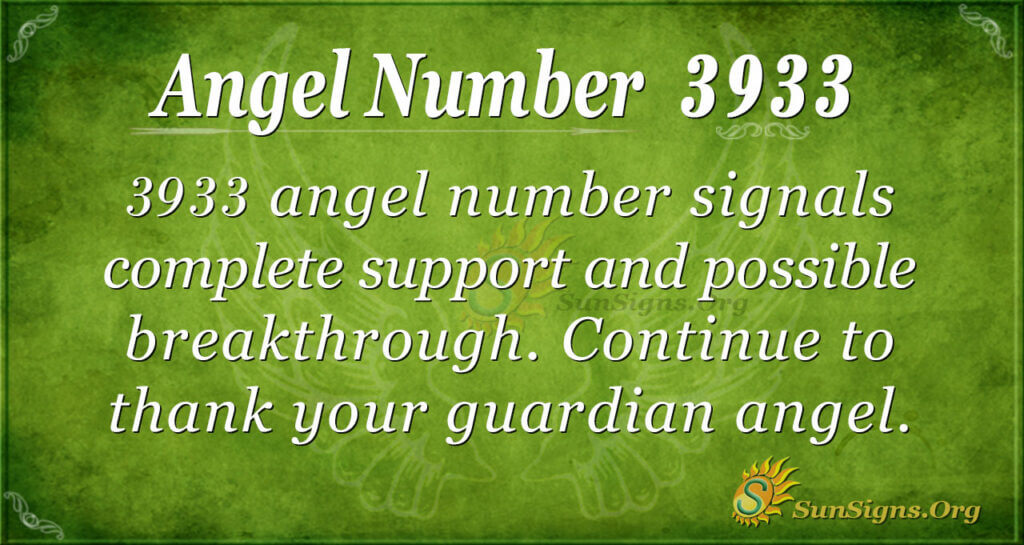 Angel Number 3933