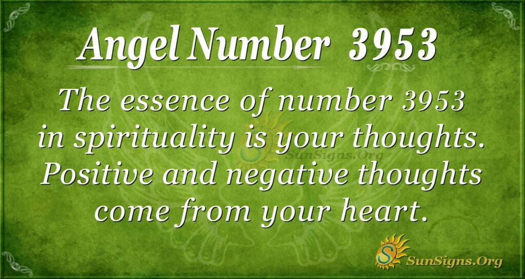 Angel Number 3953
