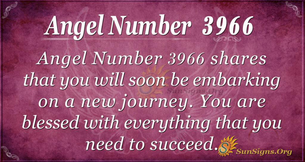 Angel number 3966