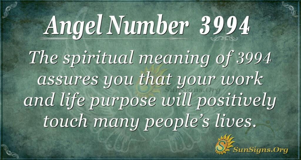 3994 angel number