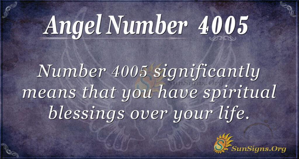 Angel number 4005