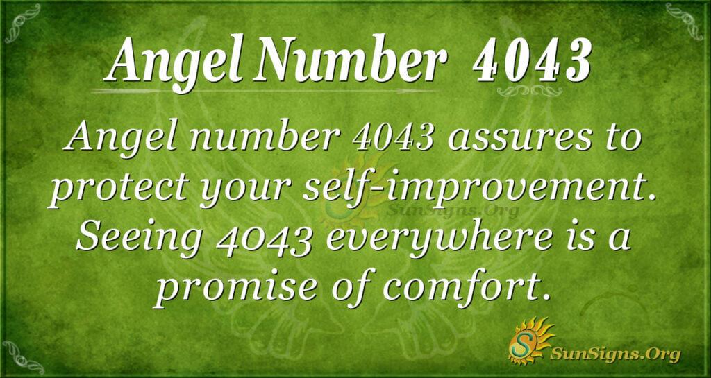 Angel Number 4043
