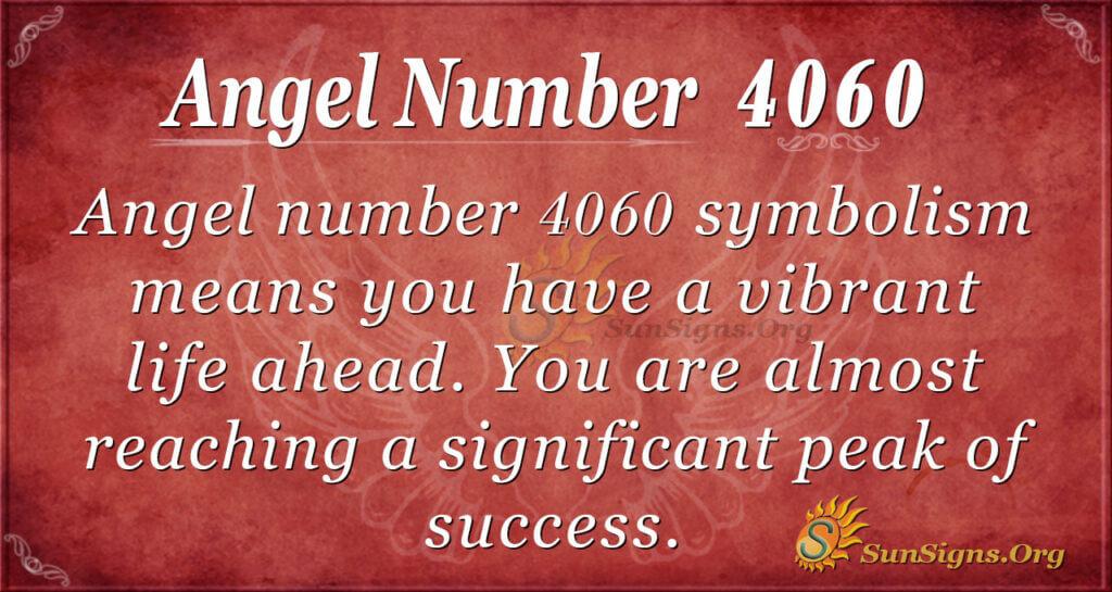 Angel number 4060