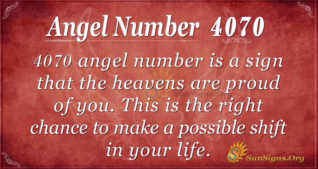 Angel Number 4070