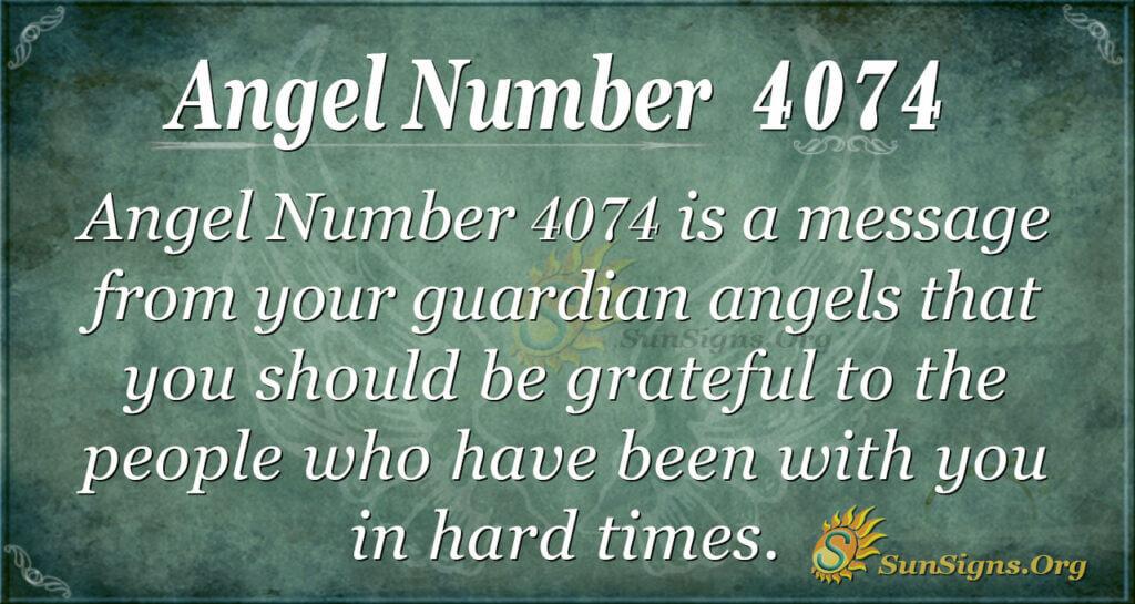 Angel Number 4074