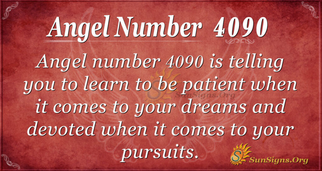 Angel number 4090
