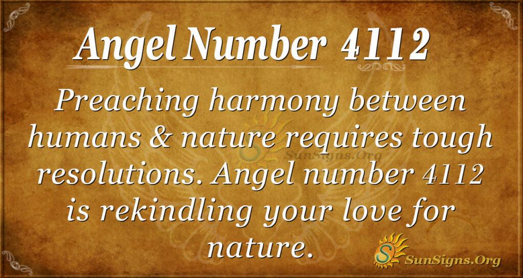 Angel number 4112