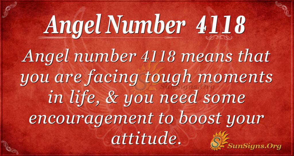 4118 angel number