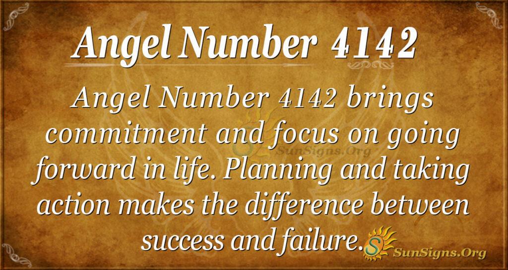 Angel number 4142