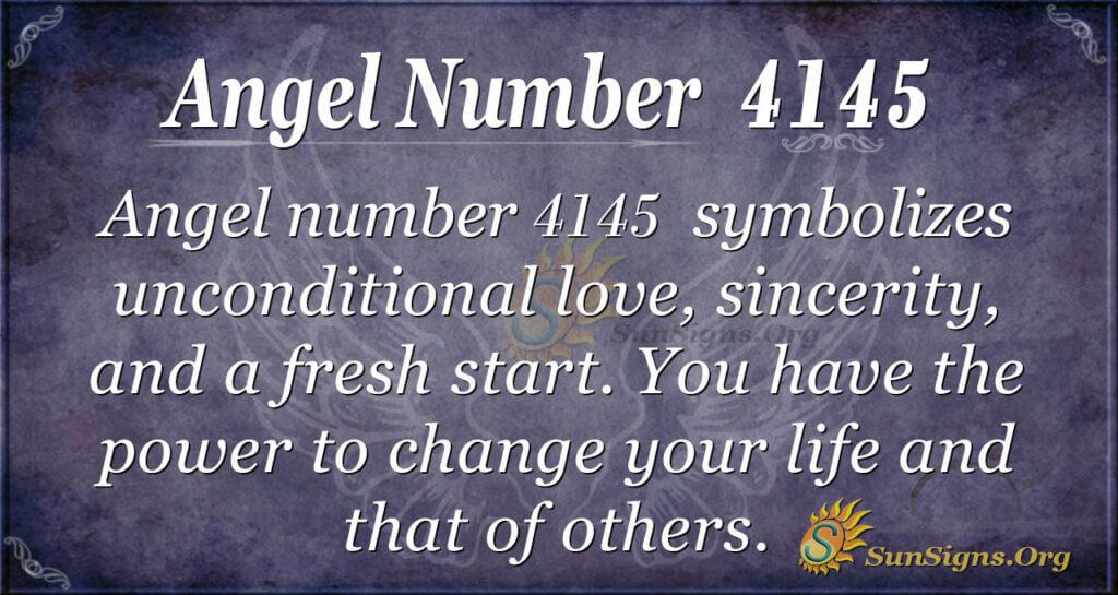 Angel number 4145
