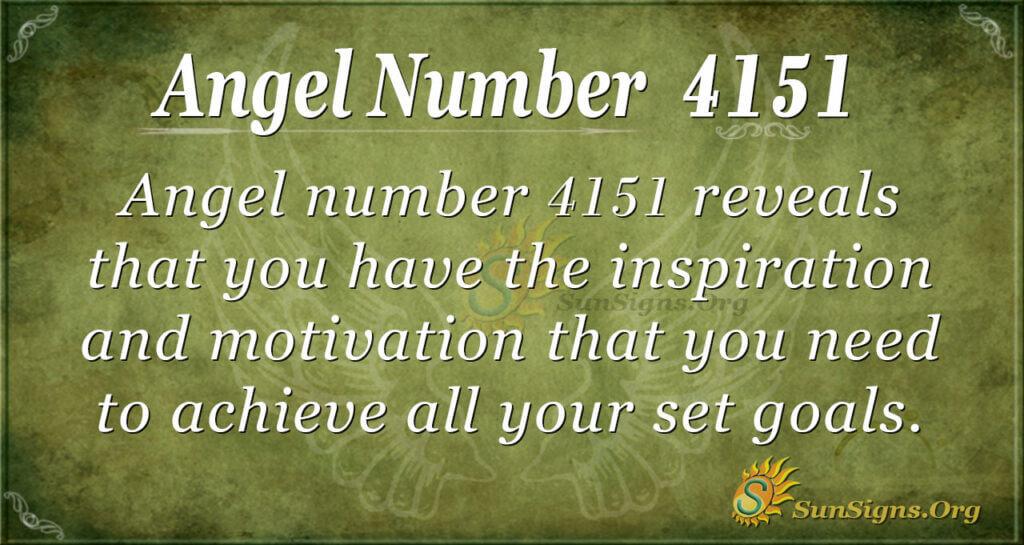 Angel number 4151