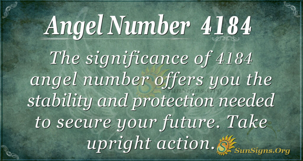 Angel number 4184