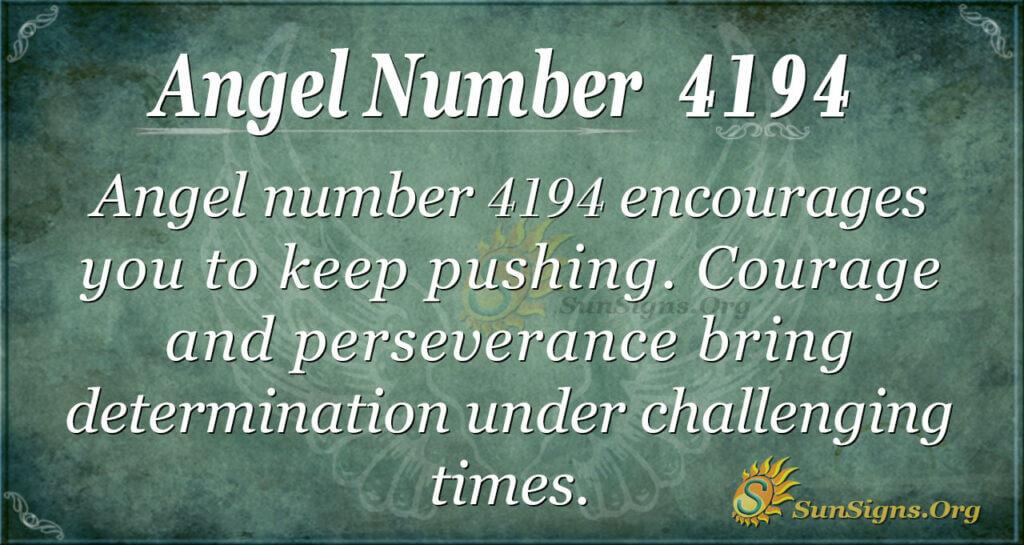 Angel number 4194