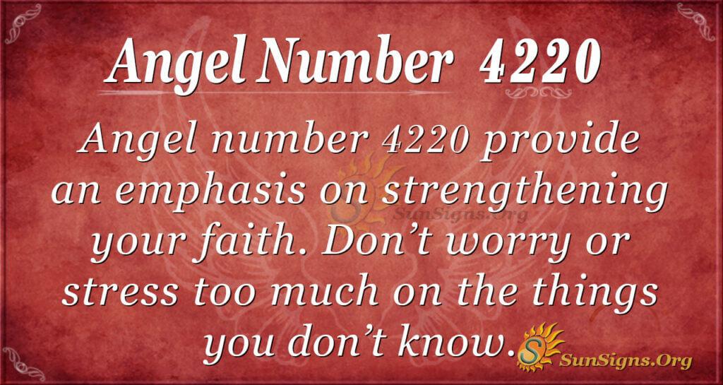 Angel number 4220