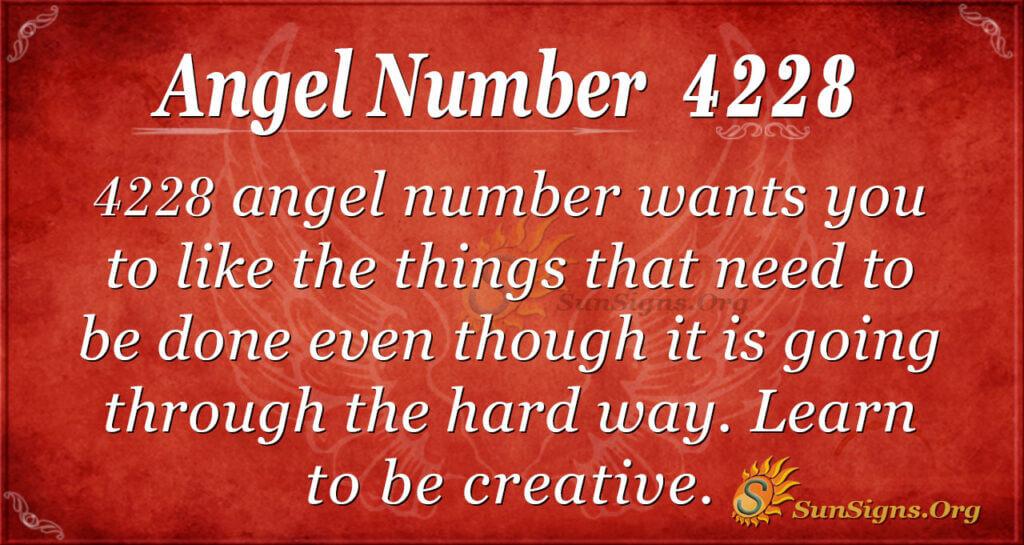 Angel number 4228