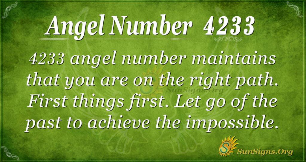 Angel number 4233