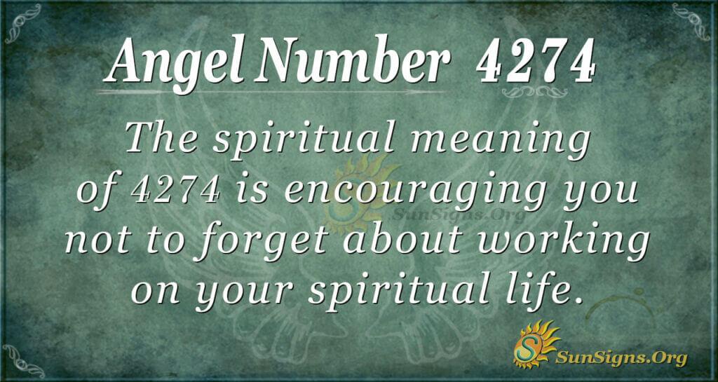 Angel Number 4274