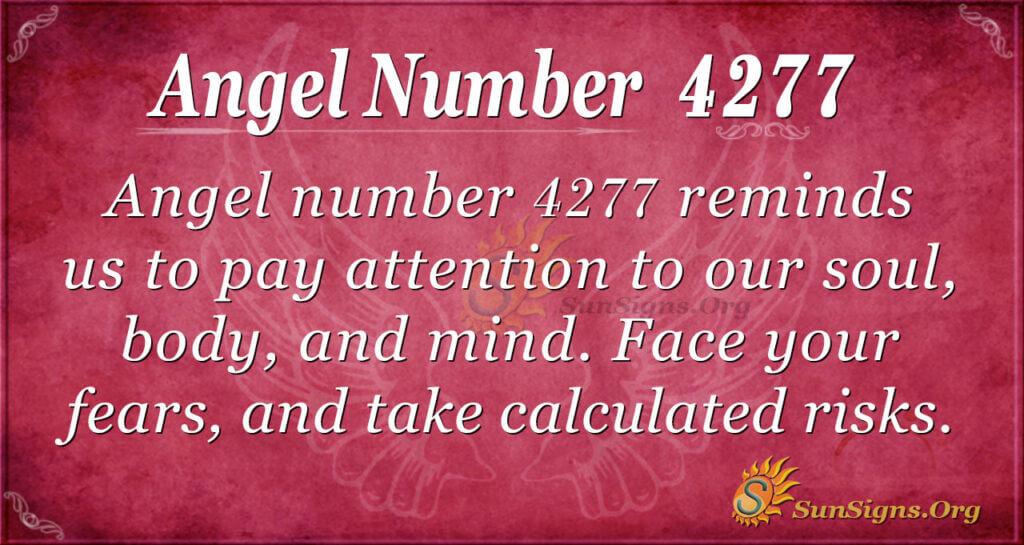 Angel number 4277