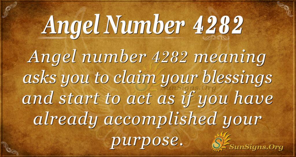 Angel number 4282