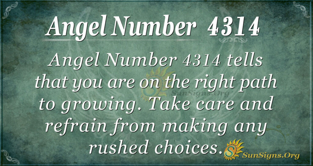 Angel number 4314