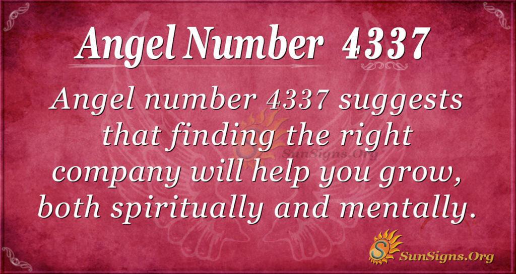 4337 angel number