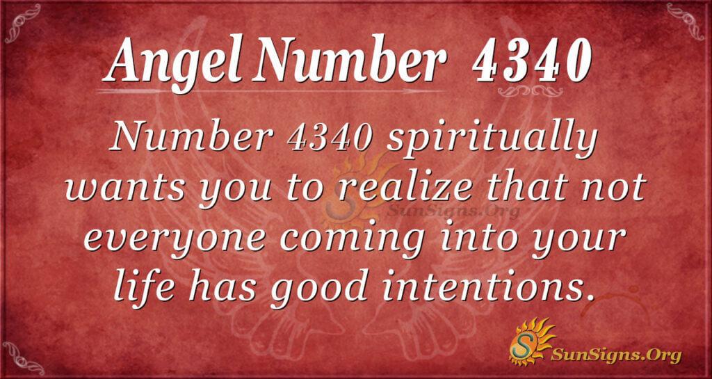 Angel Number 4340