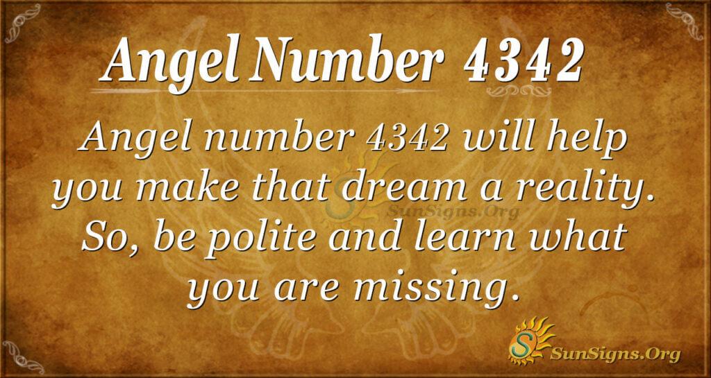 Angel number 4342