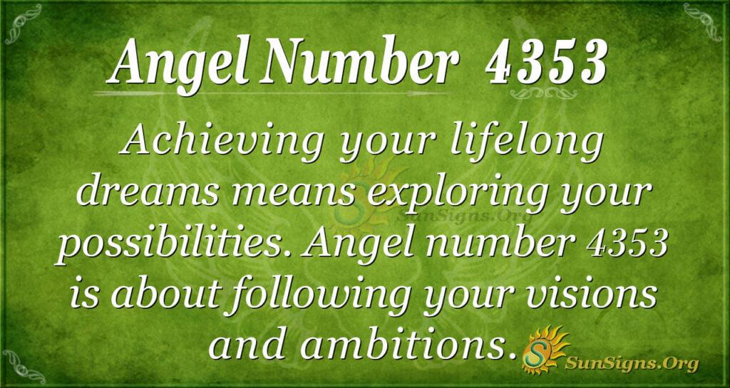 Angel number 4353