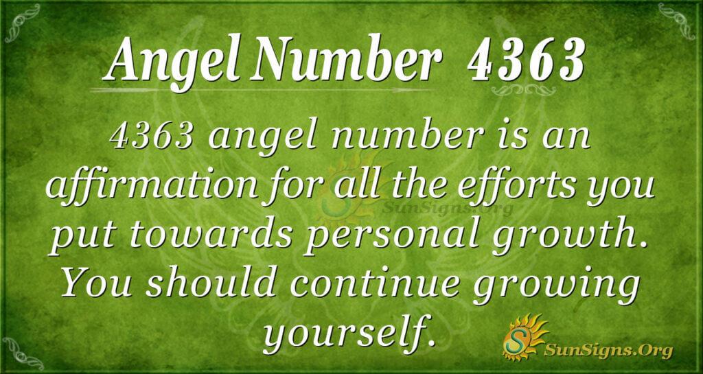 Angel number 4363