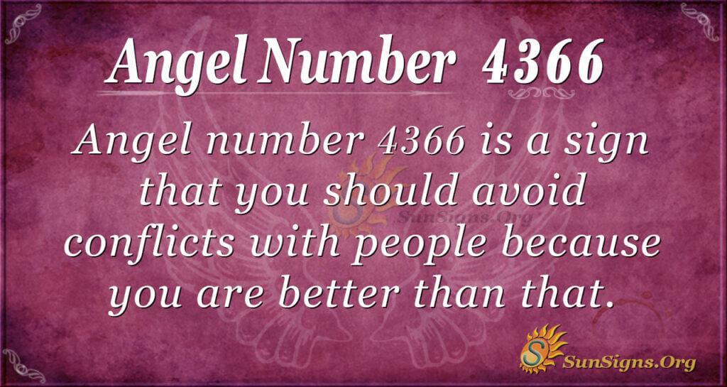 Angel number 4366
