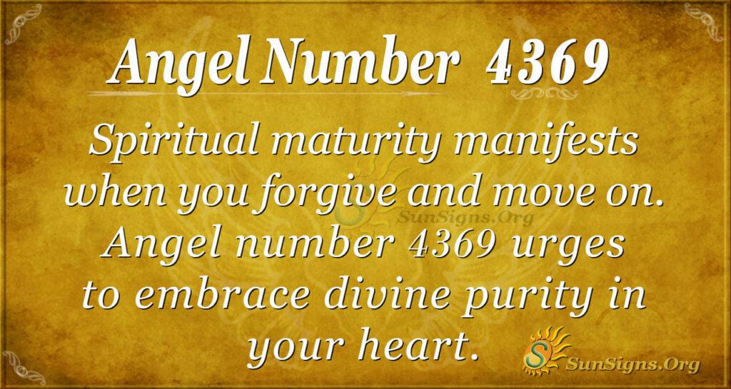 Angel number 4369