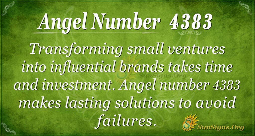Angel number 4383